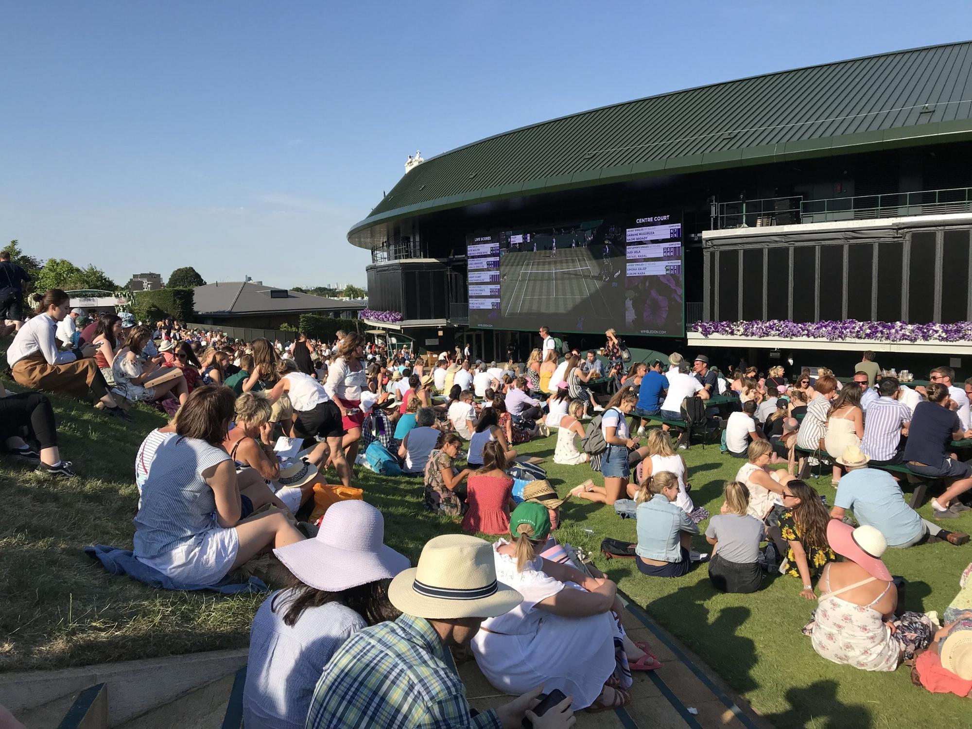 Sitting on the Wimbledon Lawn