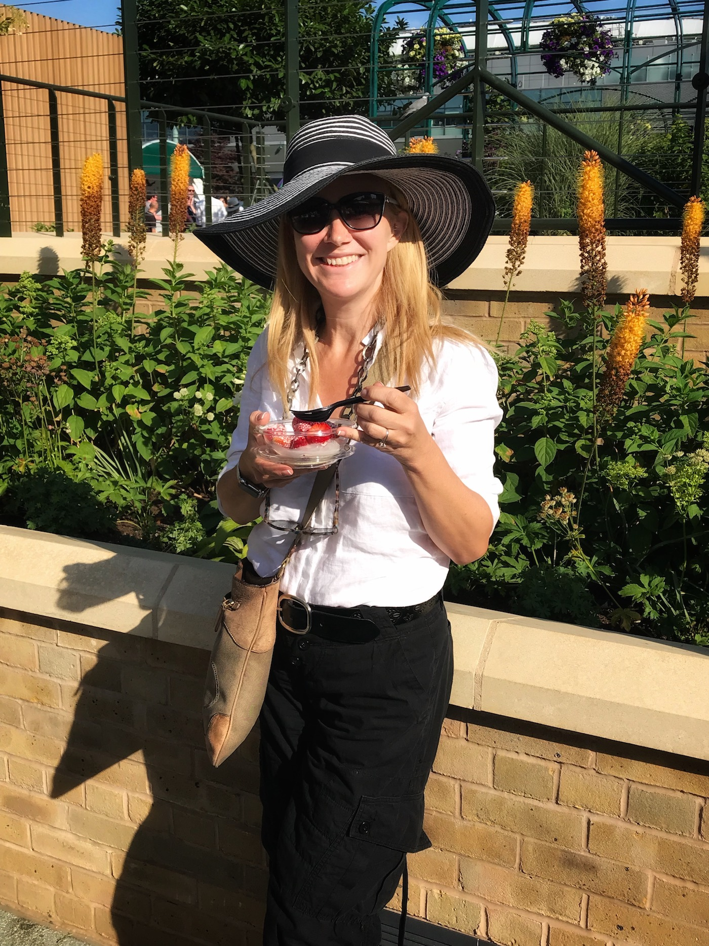 Abroad In London Eating Strawberrries and Cream at Wimbledon.jpg