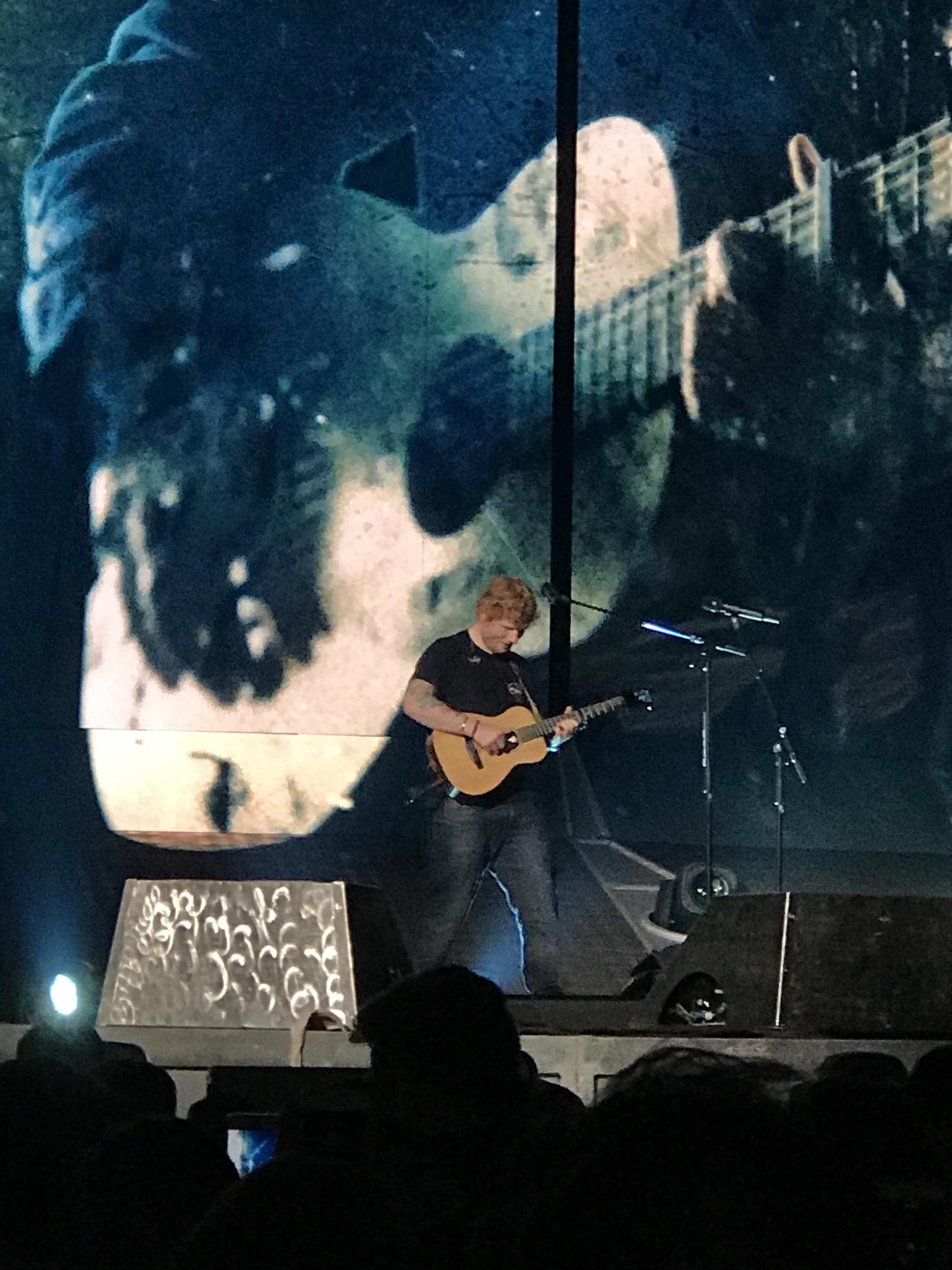 Ed Sheeran in concert in Toronto