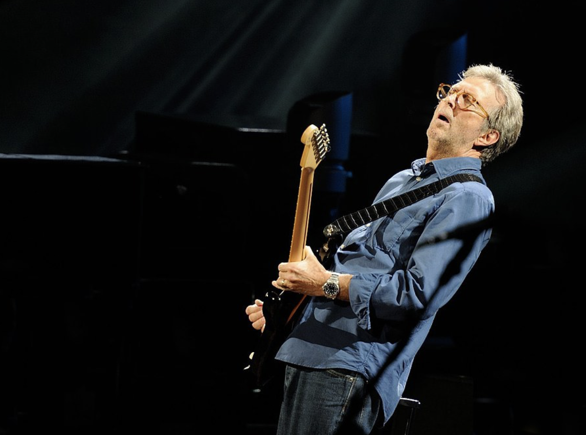 Eric Clapton shredding it.