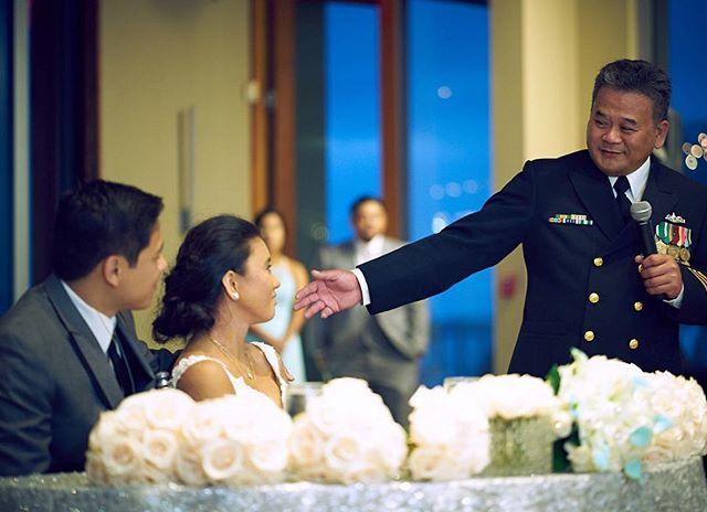 Daddy's little princess. : : #daddyslittlegirl #daddysprincess #headstrong #hardheaded #navydad #fatheranddaughter #fatherdaughter #lajolla #california #limbayen #wedding #weddingspeech