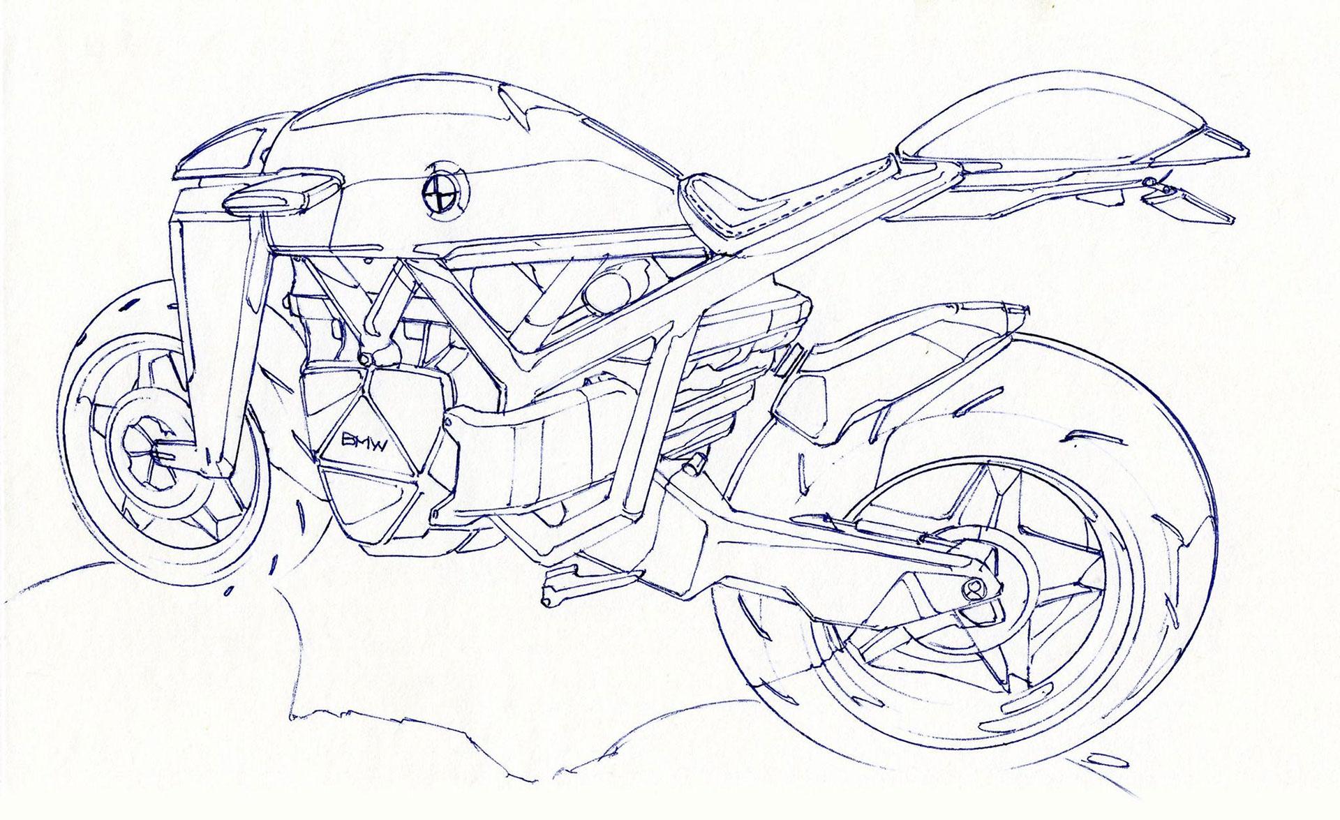 Sketch De Segunda 14 Bmw Motorrad By Rodrigo Maldonado Car Design Hue
