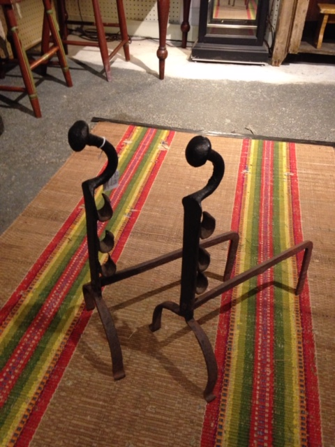 Early 19th c. Andirons