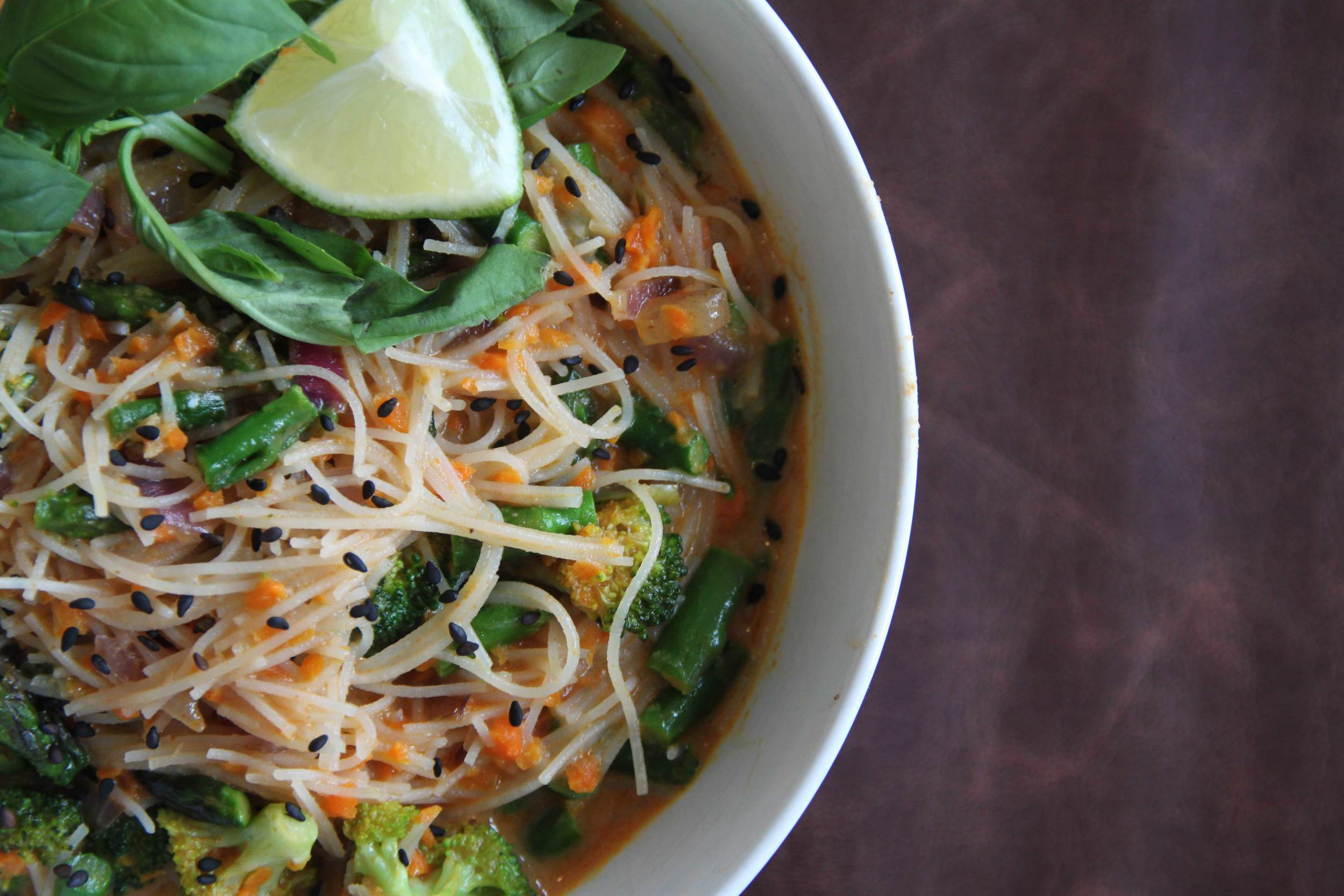 Thai Coconut Curry Noodle Bowl