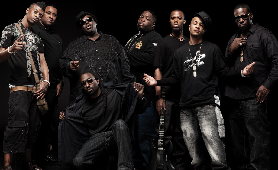 Rapper TI and crew by Tom Medvedich