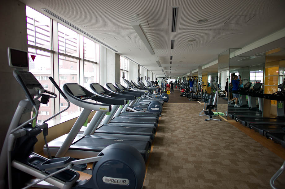 The gym at The Tokyo American Club in Tokyo, Japan