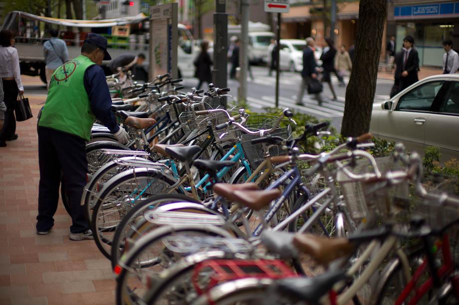 Bikes in Shinjuku, Tokyo, Japan