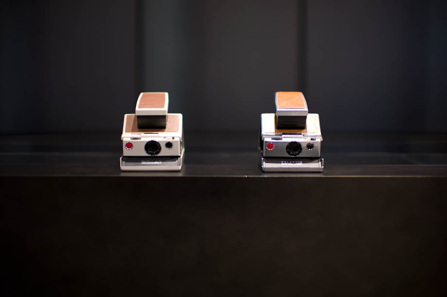The Polaroid SX-70 at The Impossible Project Space in Nakameguro, Tokyo, Japan
