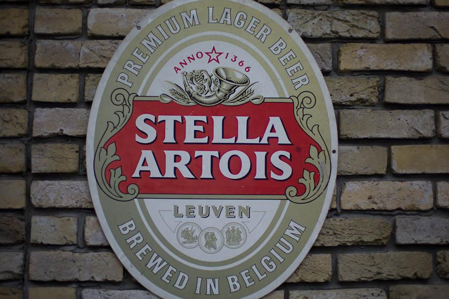 Stella Artois Beer sign in Shinjuku, Tokyo, Japan