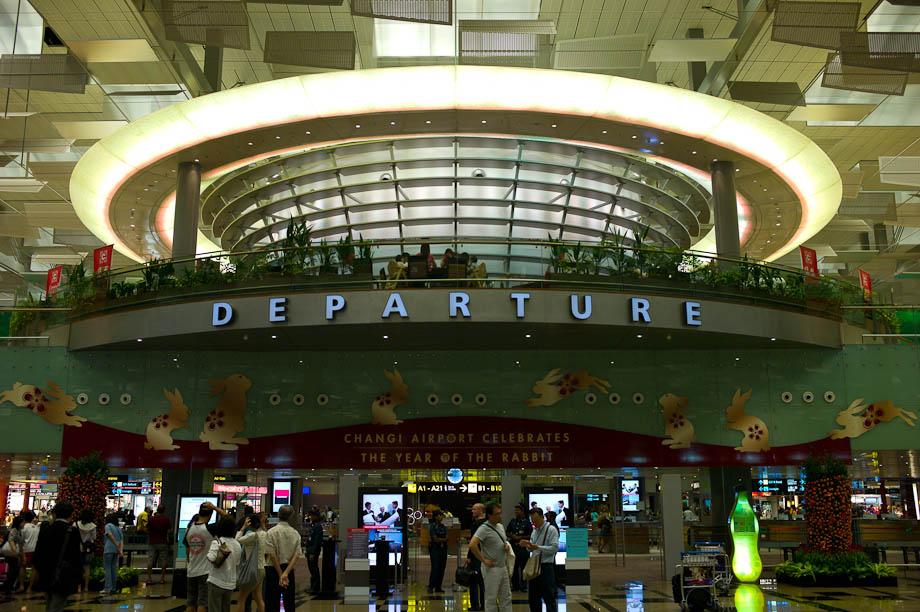 Departures, Changhi Airport, Singapore