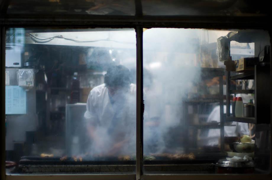 Cooking in Shibuya, Tokyo, Japan