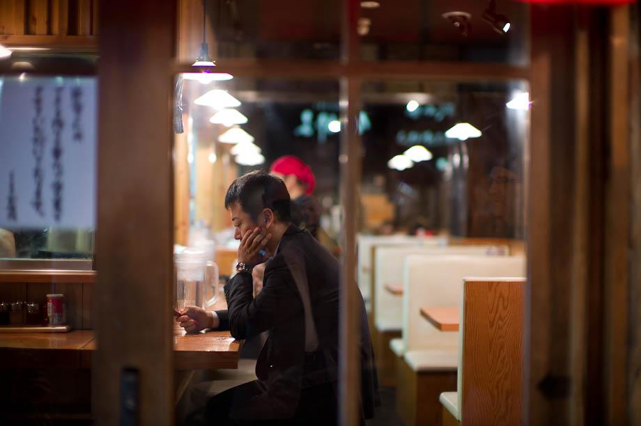 Eating in Shibuya, Tokyo, Japan