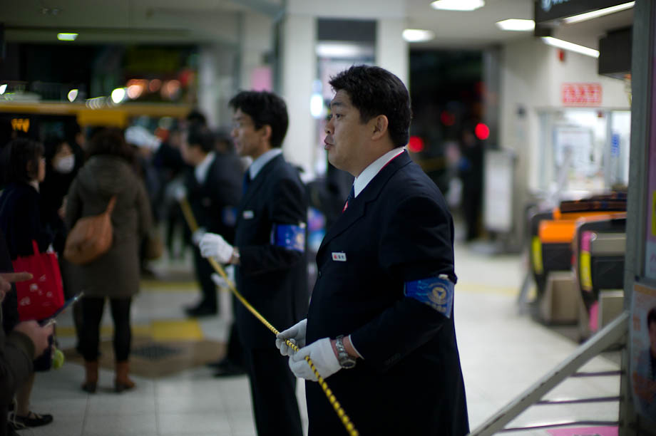 Train lines close in the days after the 2011 earthquake