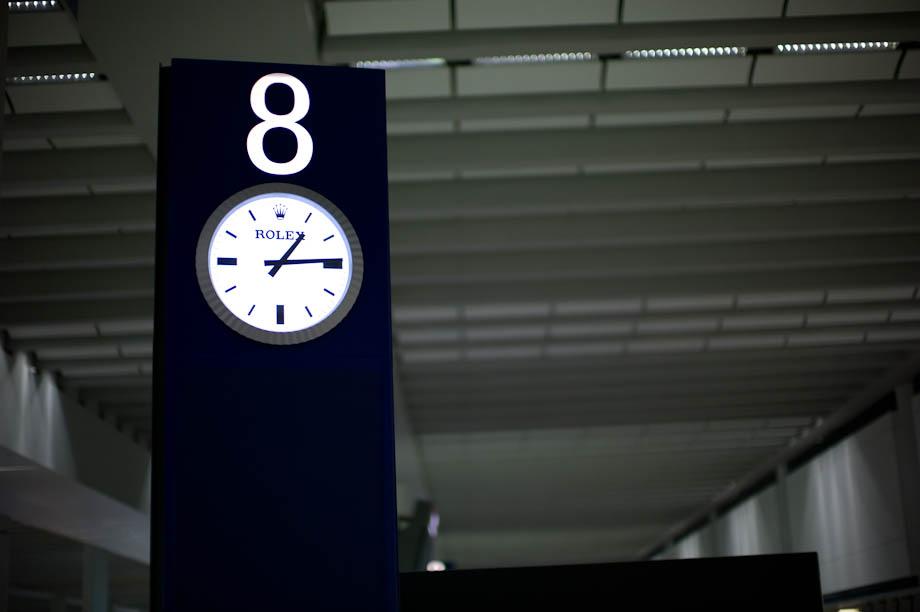 Rolex Clock at Hong Kong Airport
