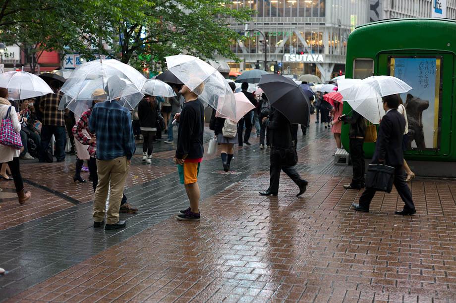 Rainy Shibuya Station