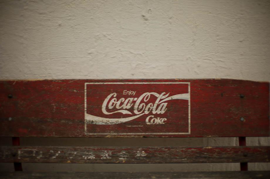 Old Coca Cola bench