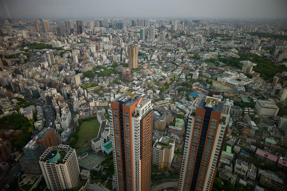 A view of Tokyo from the top of Roppongi Hill's Sky Deck