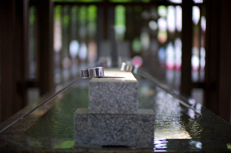 Hand washing station at Temple Entrance