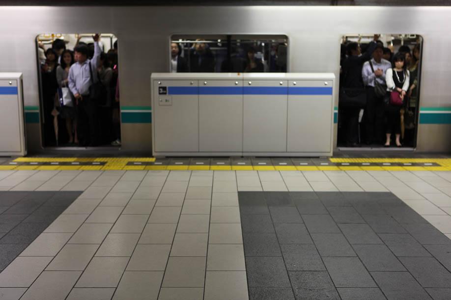 The train to Shirokanedai