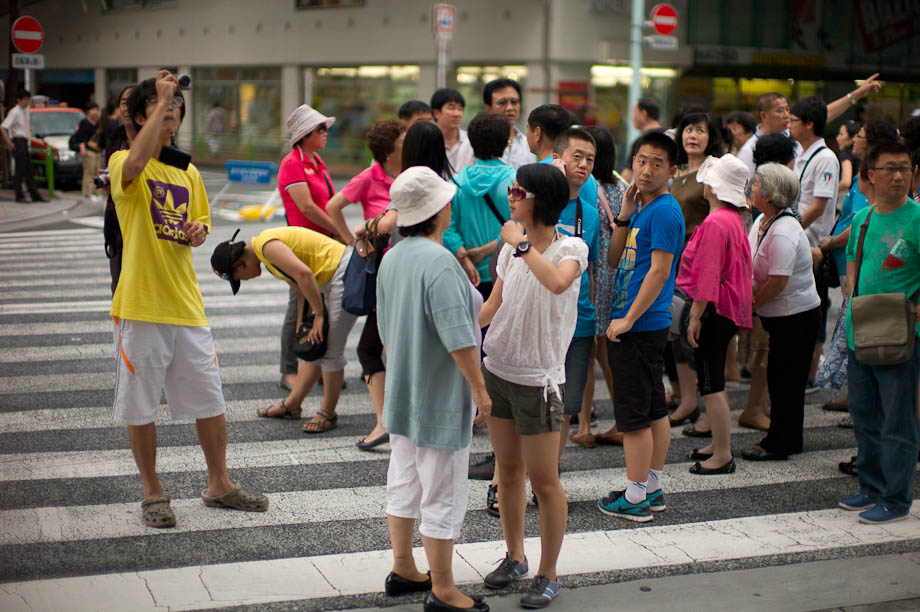 Chinese Tourist in Ginza