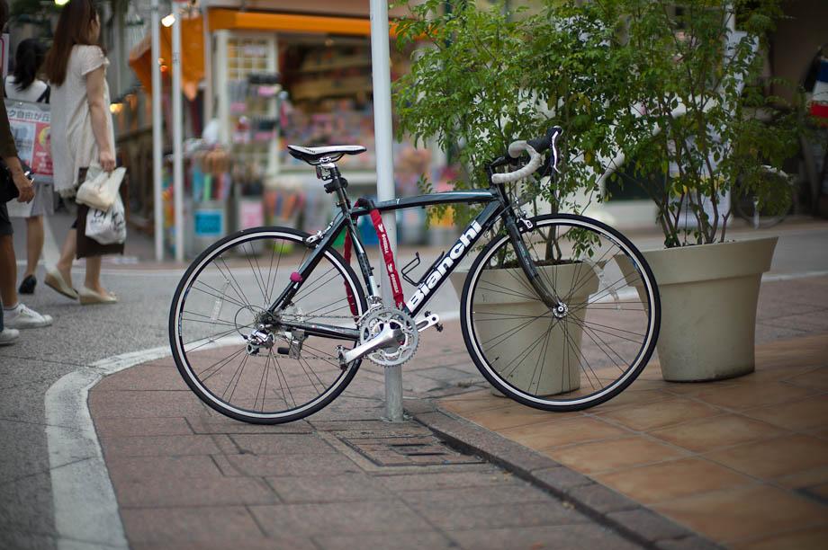 Bike illegally parked in Jiyugaoka