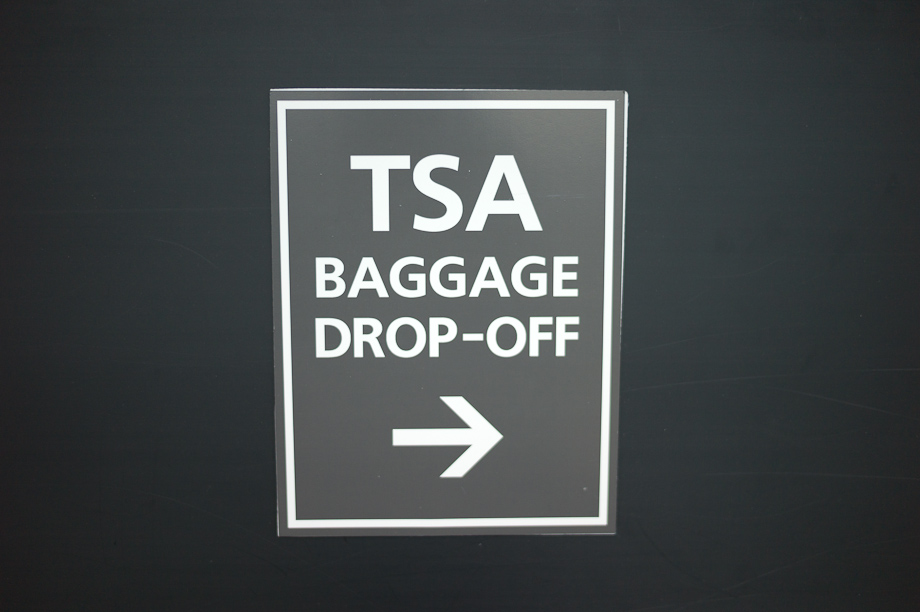 TSA Baggage Drop off