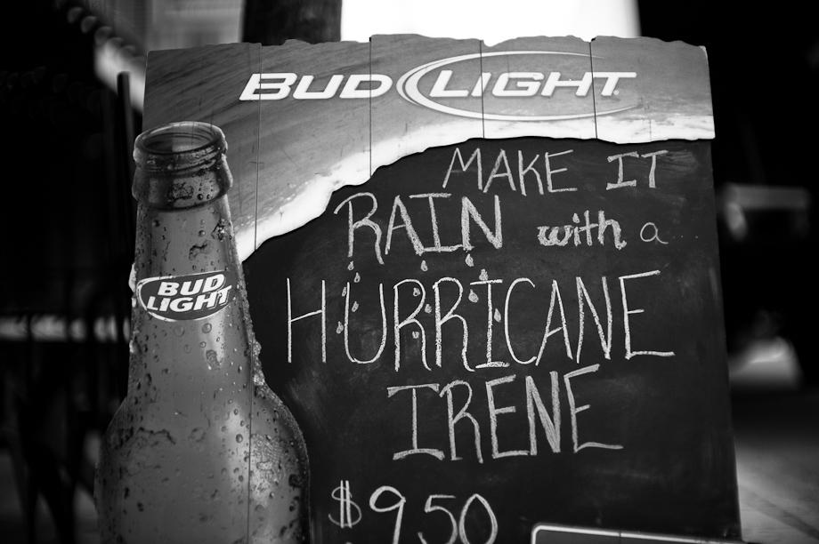 Make it rain with a Hurricane Irene