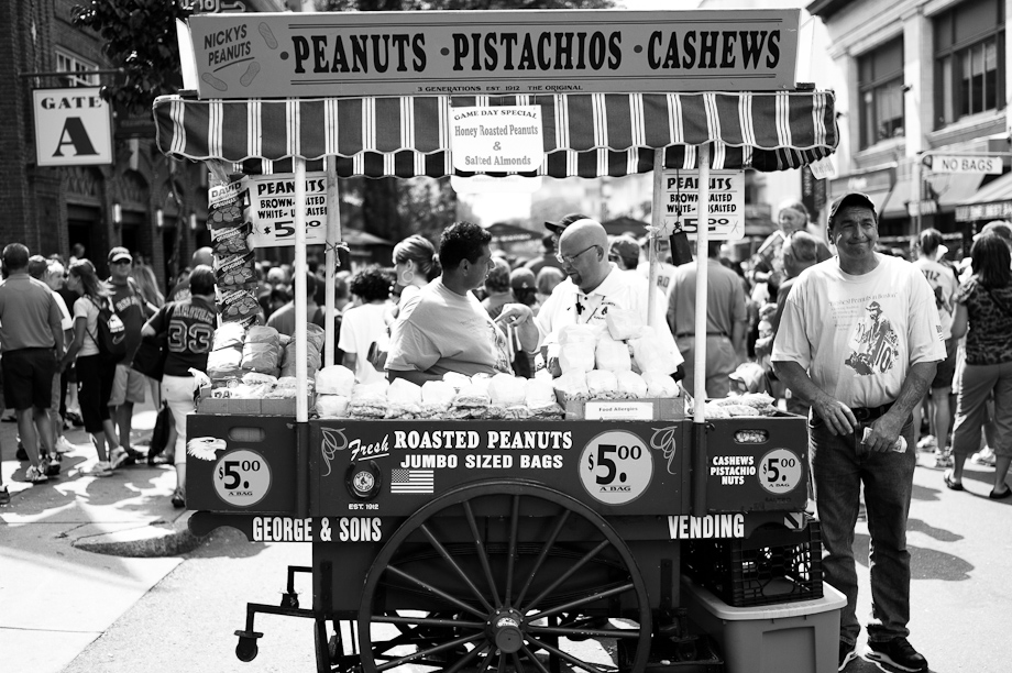 Peanuts, Pistachios and Cashews at Fenway Park in Boston