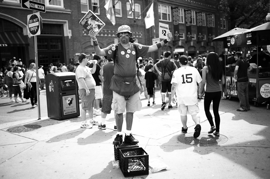 Selling Programs at Fenway Park