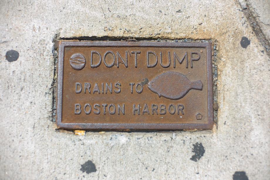 Don't Dump Drains to Boston Harbor