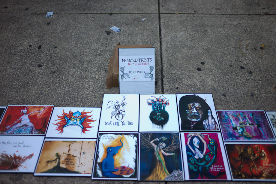 Selling Art on Newbury Street in Boston