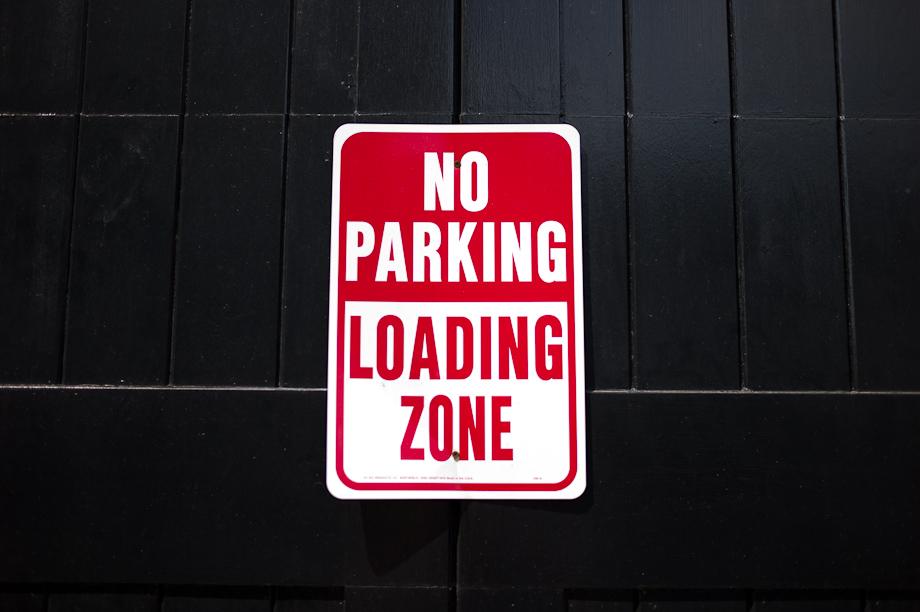 No Parking Newbury Street in Boston