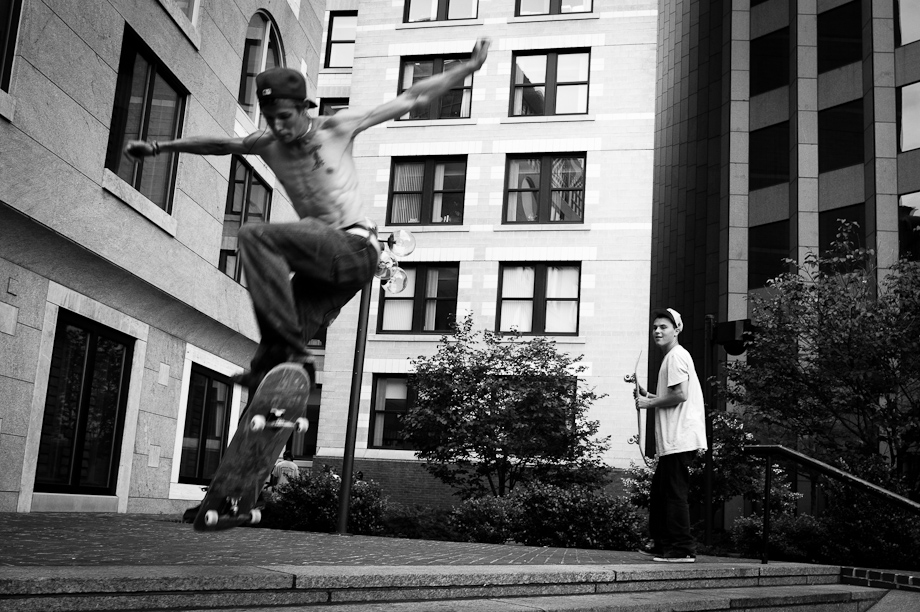 Skateboarding in Boston