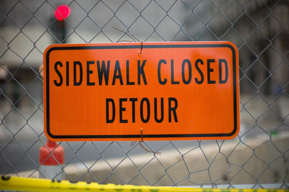 Sidewalk Closed Detour