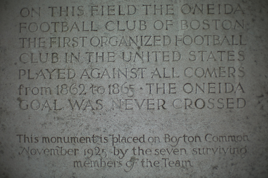 The place of the first football game in America