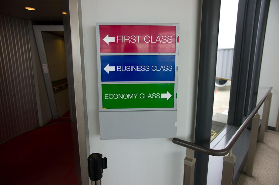 Boarding Singapore Airlines at Narita Airport