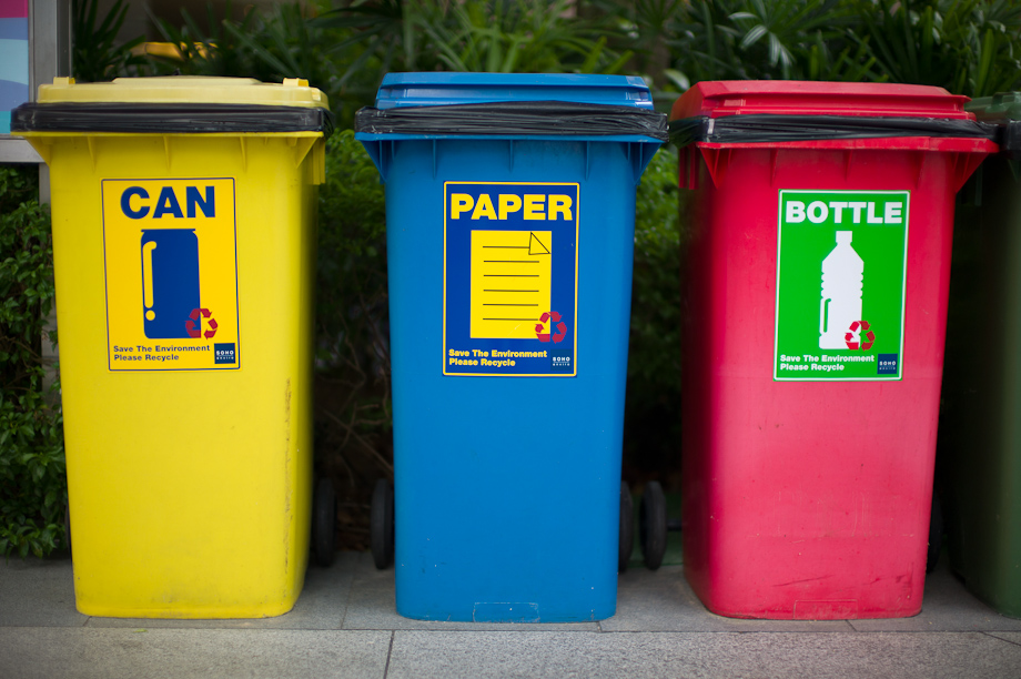 Colored Trash Cans in Singapore