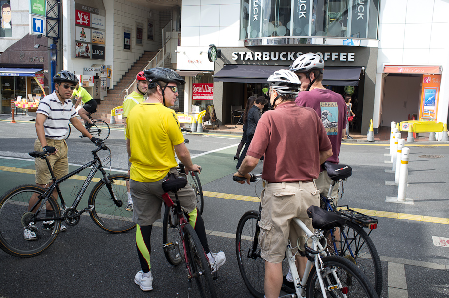 Coffee with Tokyo Cranks at Starbucks at Seijogakuen Mae Station