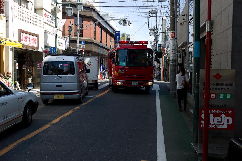 Fire Truck in Jiyugaoka