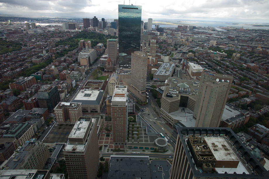 View from The Prudential Building in Boston