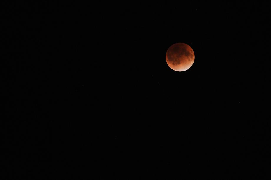 Tonight's Lunar Eclipse over Tokyo 12/10/2011