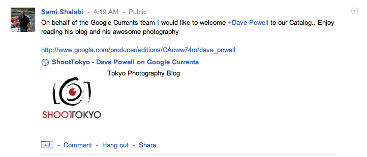 Shoot Tokyo on Google Currents
