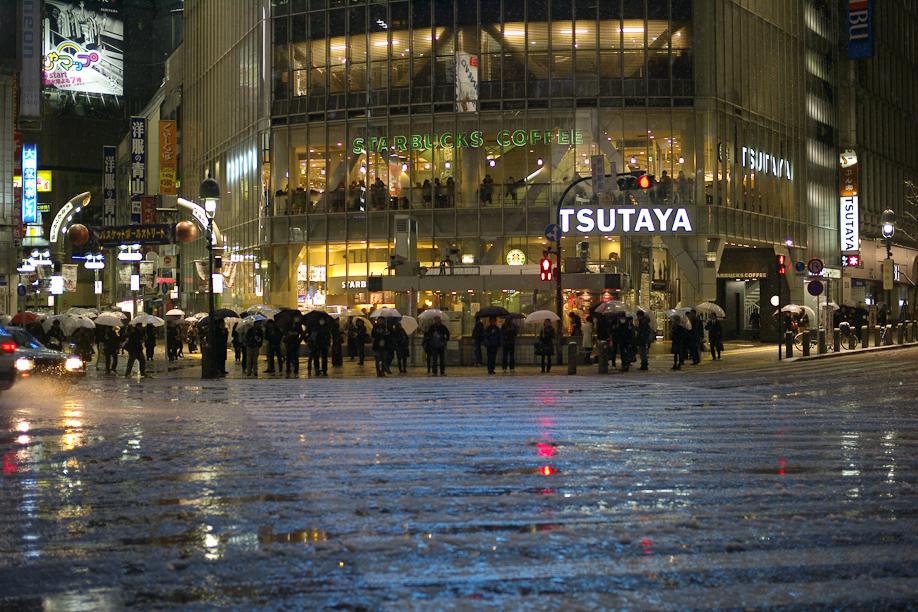 A snowy Shibuya