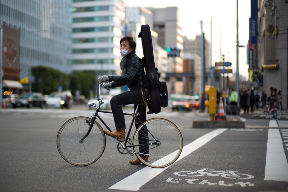 Bike on street in Tokyo