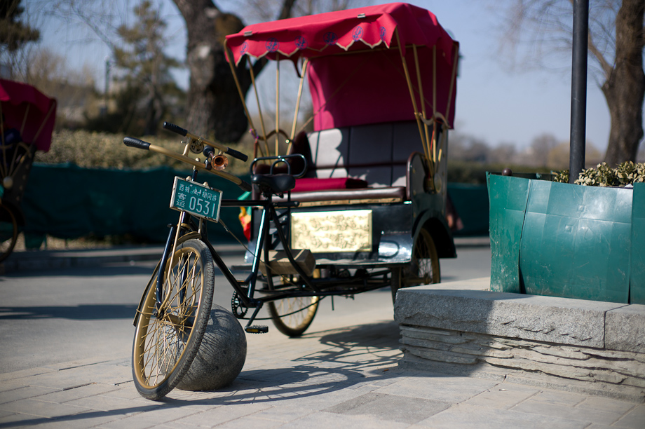 Rickshaw in China