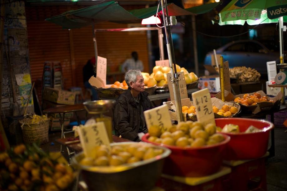 Fruit Seller in Mongkok