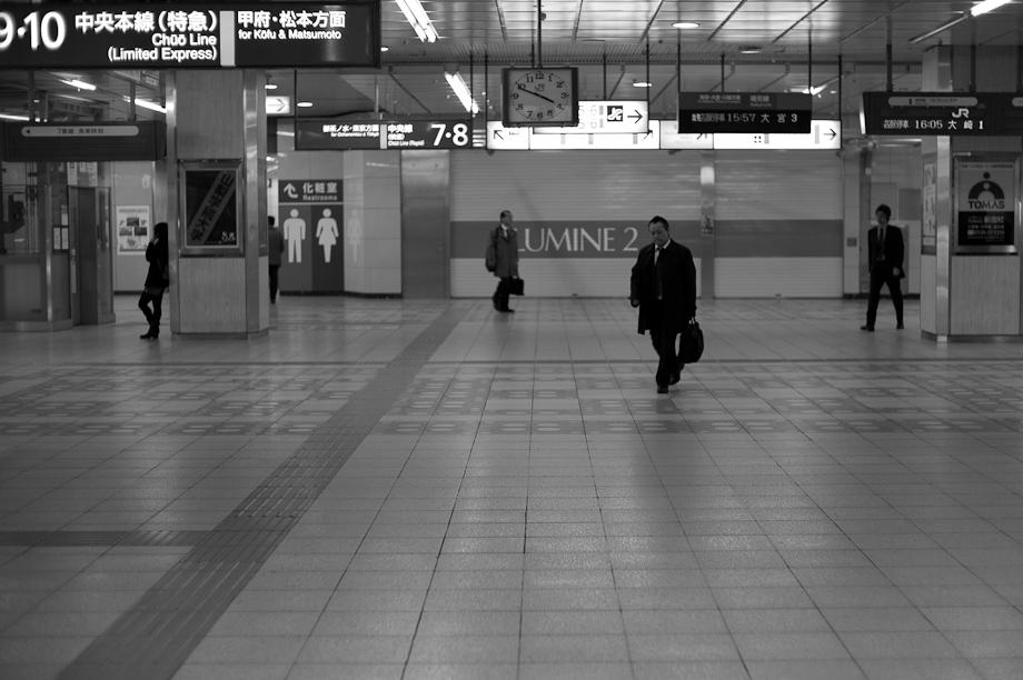 Empty Shinjuku Station