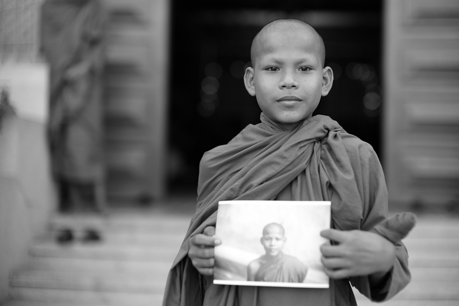 Young Monk in Phnom Penh, Cambodia