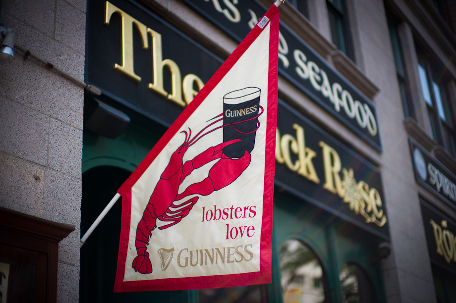 Lobsters love Guinness