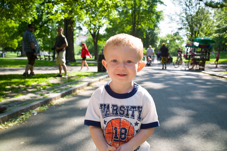 Boy in Boston Common